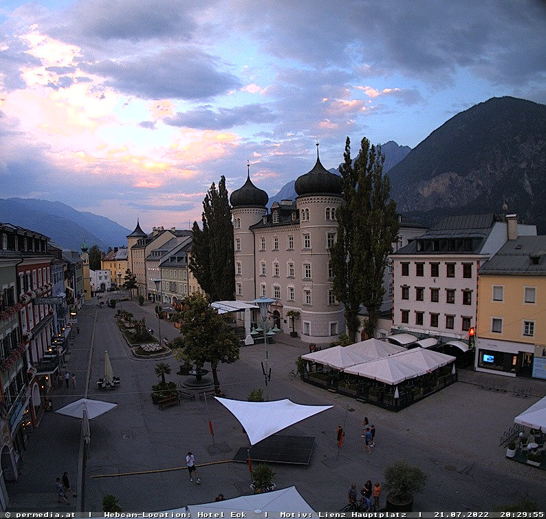 Webcam Stadt Lienz in Osttirol - Das Wetter in der City